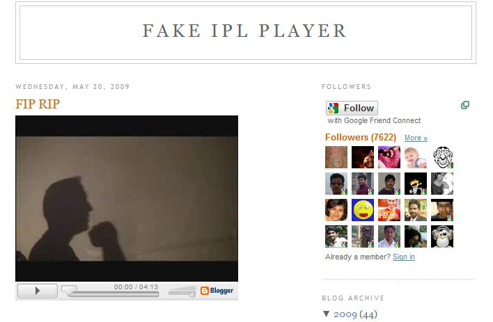 Fake IPL Player - Screenshot