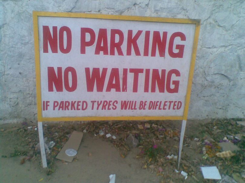 If parked, tyres will be deflated!